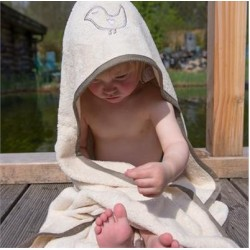 Cape de bain bébé coton bio