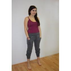 Pantalon de yoga coton bio gris