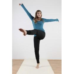 Pantalon de yoga coton bio noir