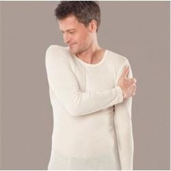 Chemise homme manches longues laine et soie
