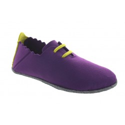 Pantoufles Soft'in Cosmos violet/vert