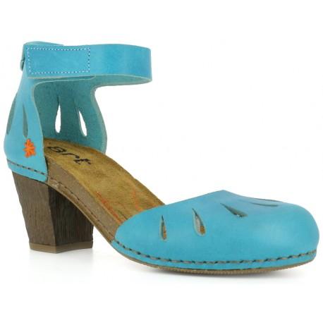 Sandales à talons bois Art