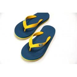 Tongs Hippobloo jaune bleu