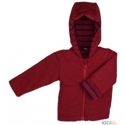 Veste à capuche 100% coton bio
