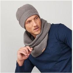 Echarpe snood loop coton bio et laine Living Crafts