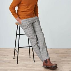 Pantalon carreaux coton bio