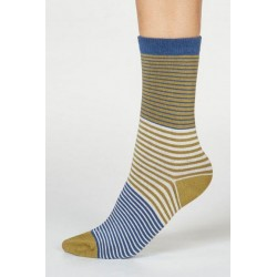 Chaussettes rayées bambou &...