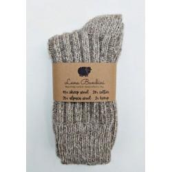 chaussettes laine alpaga lana bambini