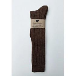 Chaussettes hautes laine et...
