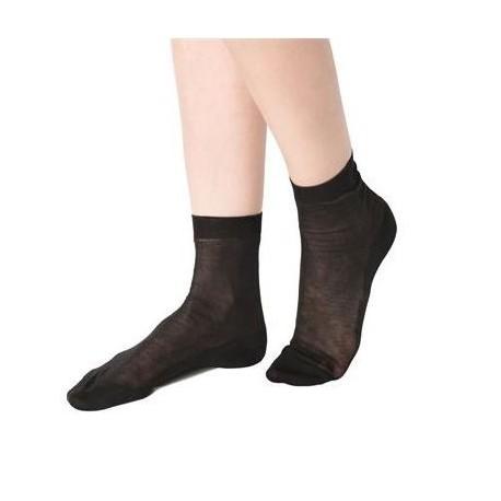 Socquettes noires coton bio