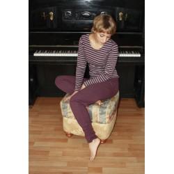 Pantalon de yoga coton bio prune