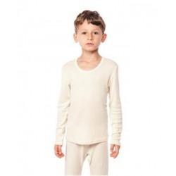 Chemise manches longues laine et soie