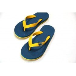 Tongs Hippobloo jaune turquoise