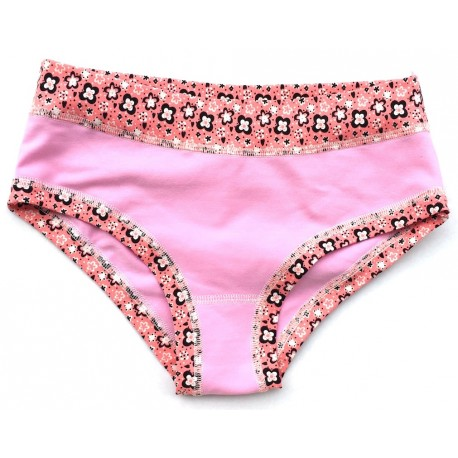 """Slip panty Coton bio Colorio """"Pink Daisy"""""""