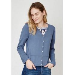 Cardigan Coton bio et laine bleu gris