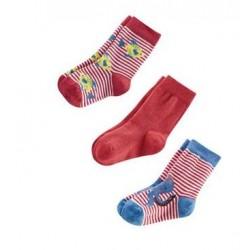 Lot 3 paires de chaussettes coton bio bébé