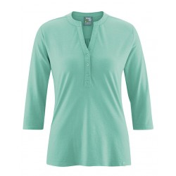 Tee-shirt tunisien manches 3/4 vert jade