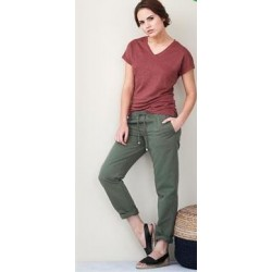 Pantalon  Coton bio et lin