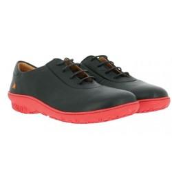 Chaussures Art Antibes noir et rouge