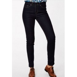 Jeans taille haute coton bio