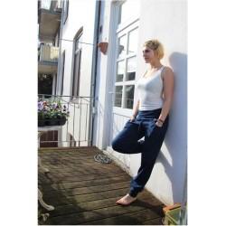 Pantalon de yoga coton bio marine