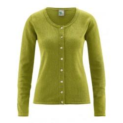 Gilet chanvre et coton bio vert fougère
