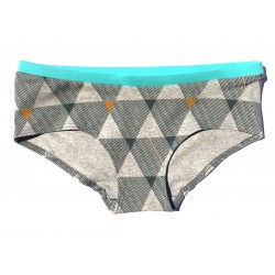 "Slip boxer coton bio Colorio ""grey triangle"""