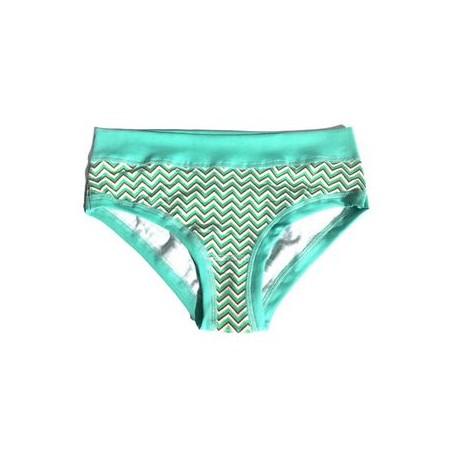 "Slip panty coton bio Colorio ""Green Chevron"""
