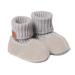 Bottines bébé en peau d'agneau