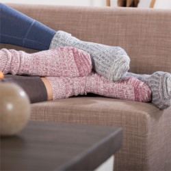 Chaussettes adultes laine et coton bio