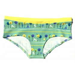 "Slip boxer Coton bio Colorio ""Trees and horses"""
