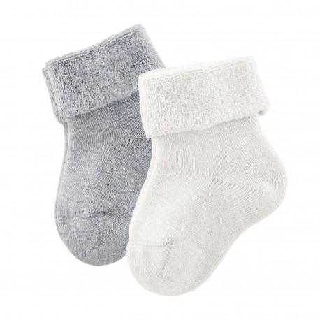 Lot 2 paires chaussettes bébé coton bio