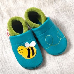 "Chaussons cuir ""Bee Susi"" du 18 au 33"
