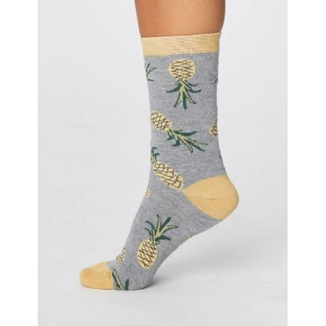 "Chaussettes bambou et coton bio ""ananas"" 37-41"