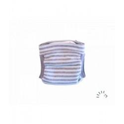 Couche lavable easyfree rayée bleu/gris