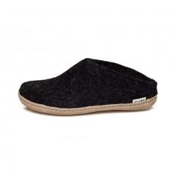 Chaussons adultes laine charbon