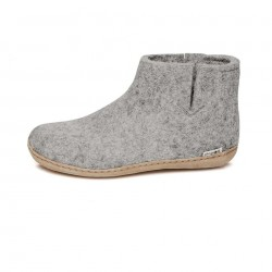 Chaussons adultes laine gris