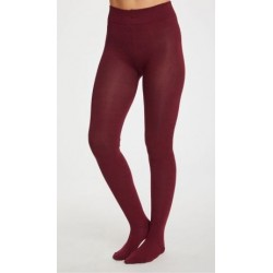 Collants bambou bordeaux