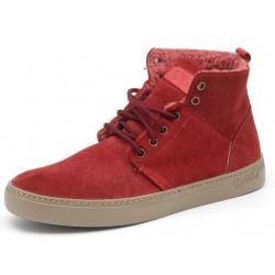 Chaussures fourrées rouges