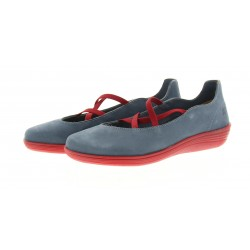 Ballerines Loints of Holland jeans et rouges