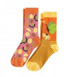 2 paires chaussettes coton bio