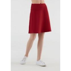 Jupe longue coton bio rouge