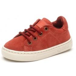 Chaussures enfants cuir Naturalworld rouges