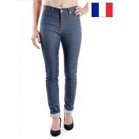 Jeans 1083 coton bio fuselé taille haute femme