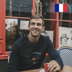 """AJ_Sweat David """"Gentleman Français"""" marine"""