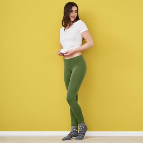 AJ_Leggings coton bio vert cyprès