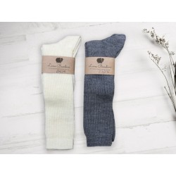 Chaussettes hautes laine...